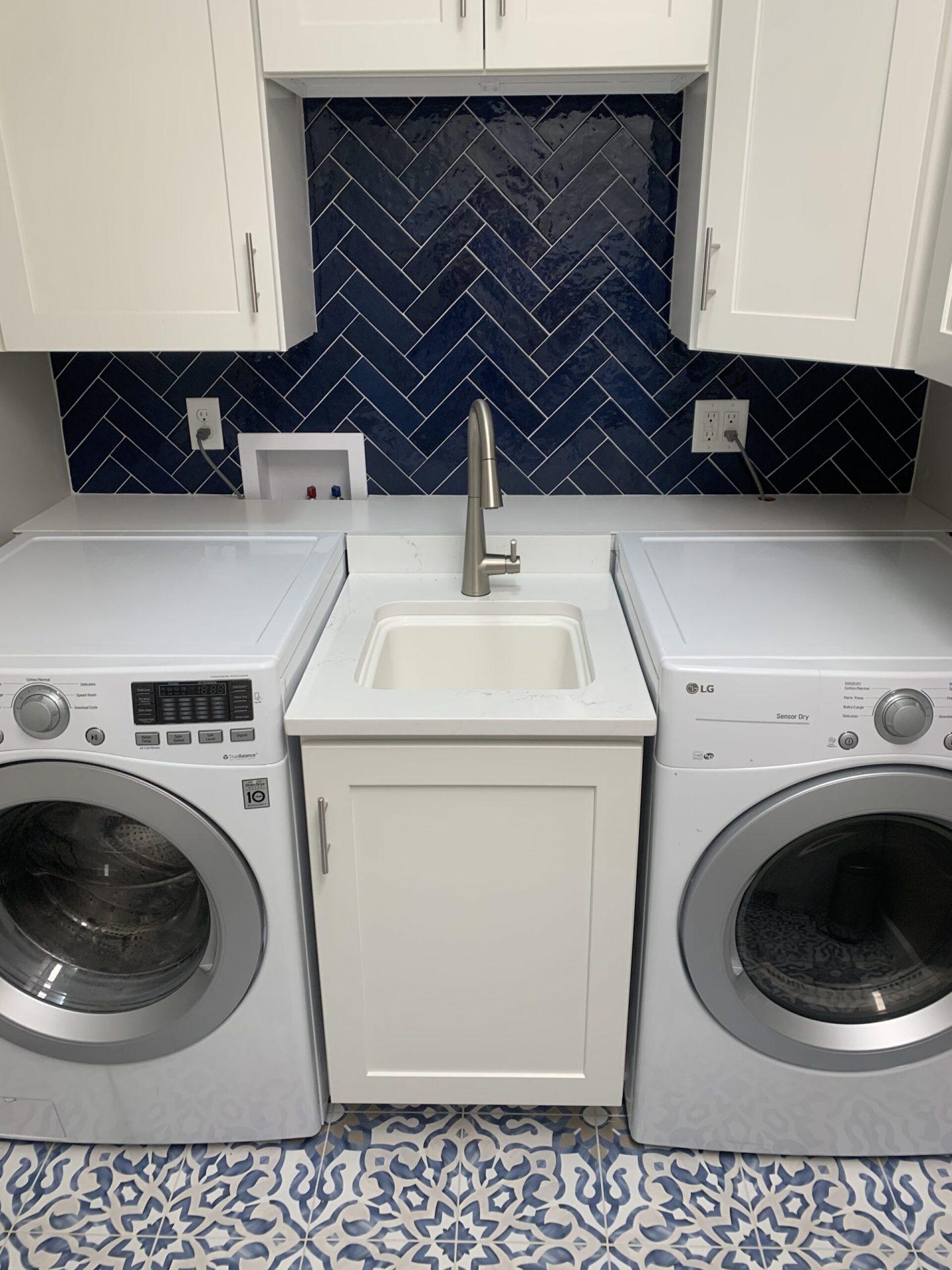Modern Coastal Sanctuary | Laundry Room